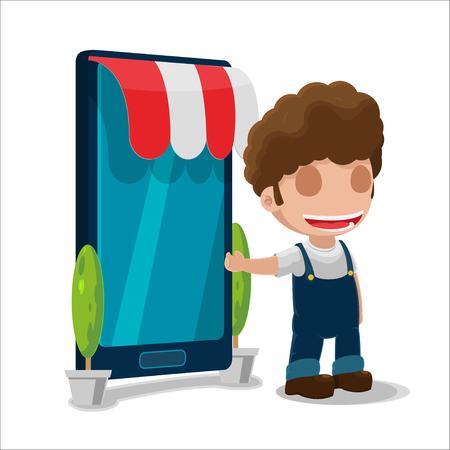 owner: Man Owner Smart Phone Shop