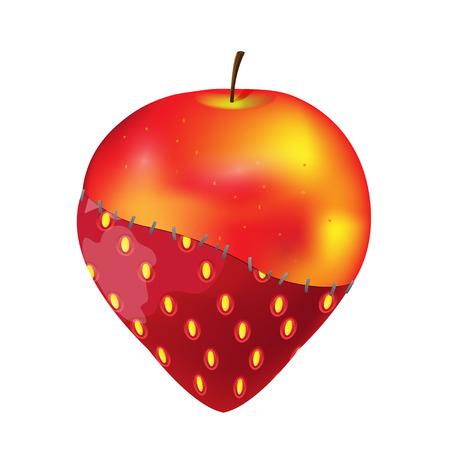 modificar: Fruit  Apple Strawberry  Modify Gmo Vectores