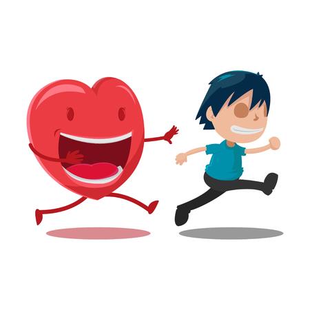 love couples: Man Scarper Love Cartoon Character