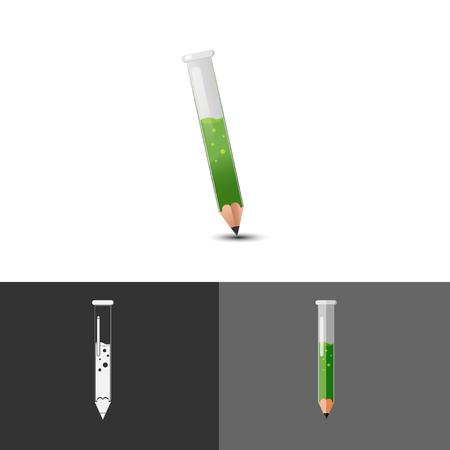 test tube: Pencil Test tube Icon Symbol