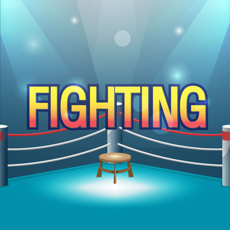 spotlit: Boxer Stage Background Fight Text Vector
