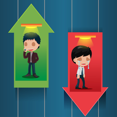 up and down: Lift Stock Market Up Down Vector