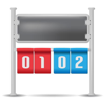 remaining: Score Board Analog Isolate Design Vector Illustration