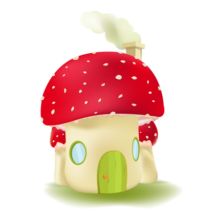 Red Mushroom House Cute Design