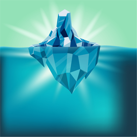 Snow Iceberg Water Mountain Background