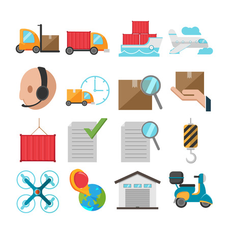Logistic Flat Icon Shipping Transport