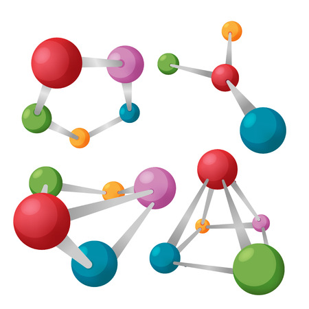 node: Node Abstract Science Symbol Set Illustration