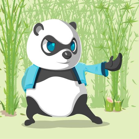 Kungfu Panda Cute Character Design Vector Illustration
