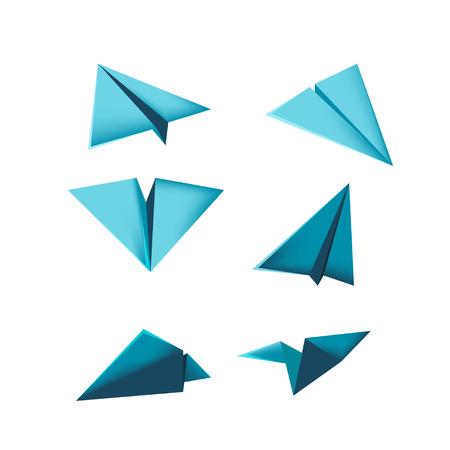 groupe: Plane Paper Design Isolate Dimention Vector Illustration