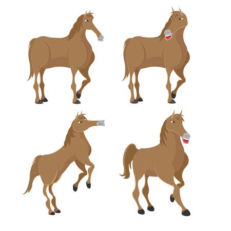 Ensemble de personnages d'animaux à cheval Banque d'images - 76083826