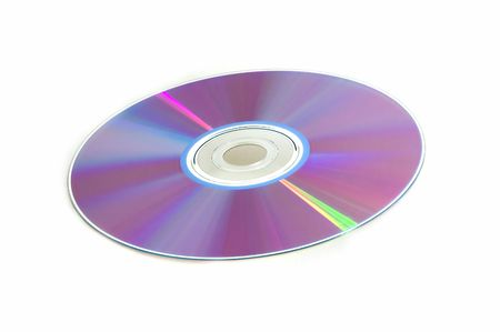 Compact disk surface isolated over white