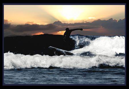 Surfin the Straits Stock Photo