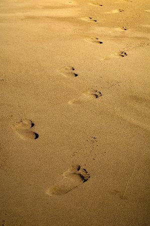 Arid footprints in the sand