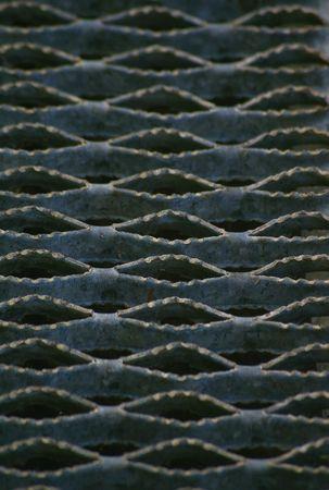 gray non slip metal grate photo
