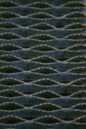 hatched: gray non slip metal grate