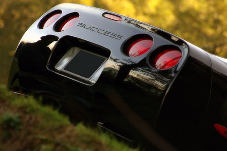 Corvette tail end, symbol of success Stock Photo