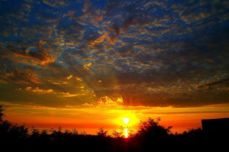 spectacular colorful sunrise