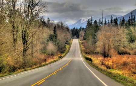 long stretch of highway road Stock Photo - 3832523