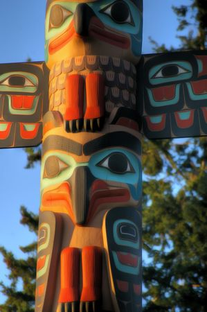 Northwest totem pole