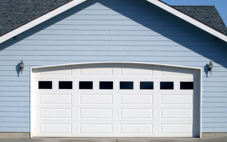 arched: Arched Garage Door Opening Stock Photo