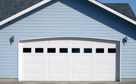 Arched Garage Door Opening Stockfoto