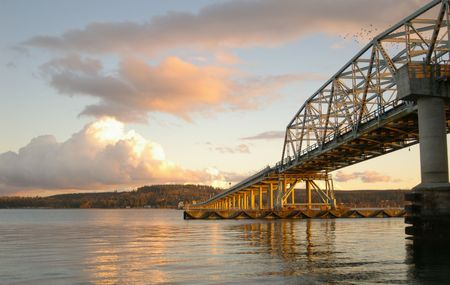 Hood Canal Bridge Stock Photo