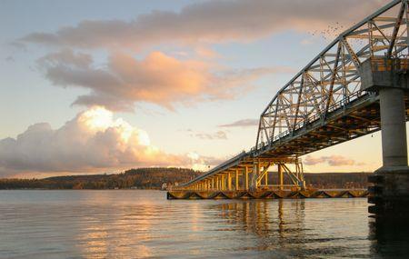 Hood Canal Bridge Stock Photo