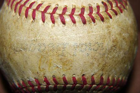 Game Used Baseball Stock Photo