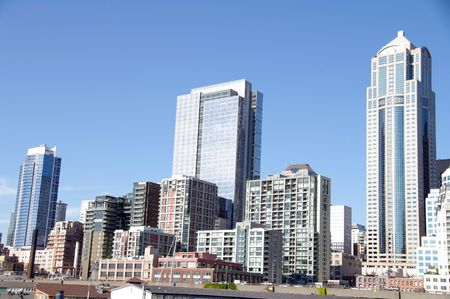 Downtown Seattle Waterfront Stock Photo