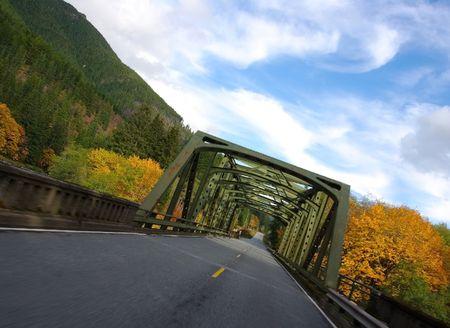 Bridge Ahead Stock Photo