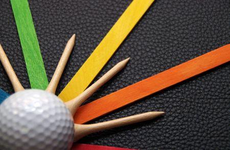 Golf Balls and Tees photo