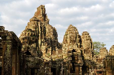 saddened: Cambodia  Angkor vat  Bayon Hram Stock Photo