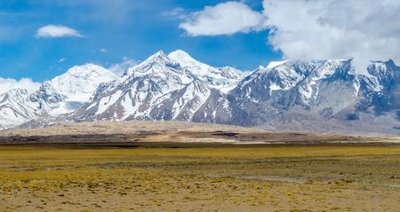 Himalaya mountain landscape. The Tibetan Plateau photo