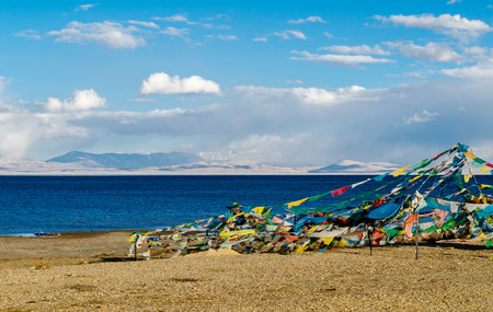 Tibet. Lake Mansarovar. Early morning.