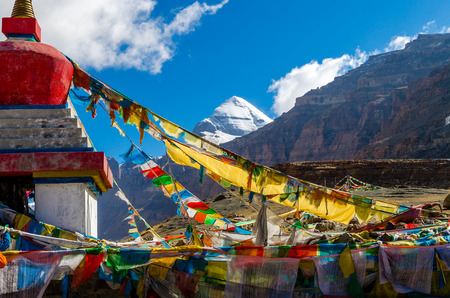 house of prayer: Tibet. Mount Kailash. South face.