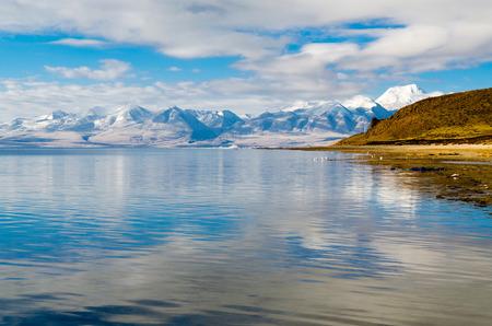 Tibet. Lake Mansarovar. Early morning. photo