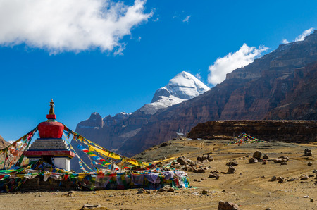 get in shape: Tibet. Mount Kailash. South face.