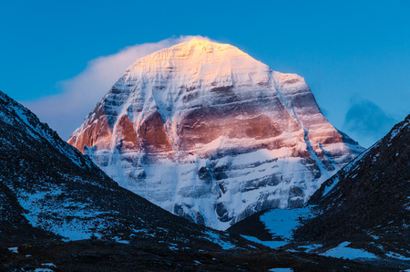 pyramid peak: Tibet. Mount Kailash. North face