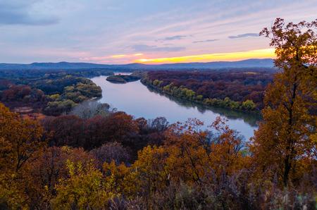 ussuri: Sunset over the river Ussuri. Primorsky Krai. Russia