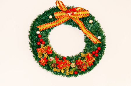 boughs: Christmas wreath made from pine boughs