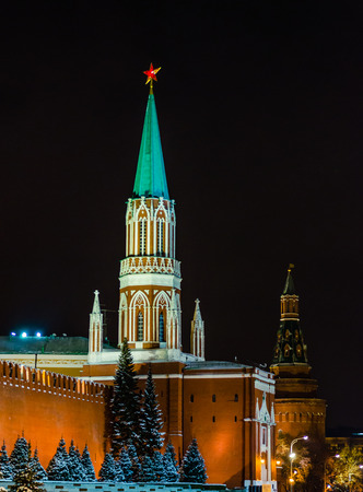 kreml: Red Square at night, Moscow