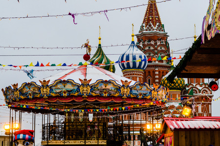 in copula: Russian Fair on Red Square in Moscow