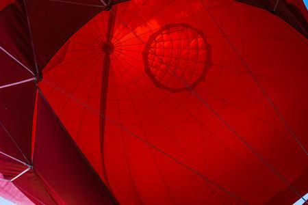 air: A hot air balloon, outdoor.