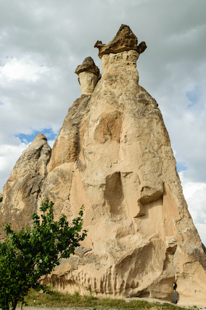 formations: Colourful rock formations in Cappadocia, Turkey