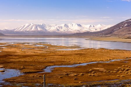 View from the Tibetan plateau to the Himalayan mountains