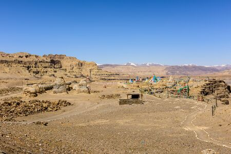 Toling Monastery, a cultural monument of national importance in the Dzanda County of Ngari County. Tibet. China.Asia