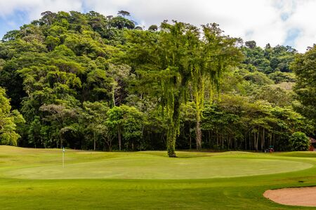 Landschap bij de golfbaan. Costa Rica. Centraal Amerika