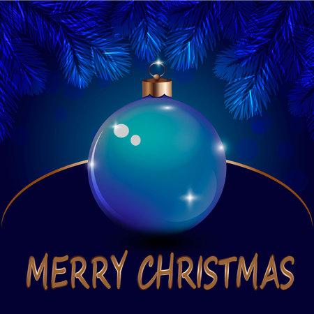 festive occasions: Christmas ball, Christmas background , congratulations Illustration