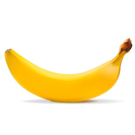 ripe: one ripe banana , white background , shadow Illustration
