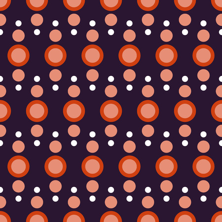 ordered: Seamless fabric.The polka dot background. Seamless pattern of circles ordered. Halloween. purple,orange colours. The pattern for clothing, linens, wrapping paper, website background, gift wrapping,